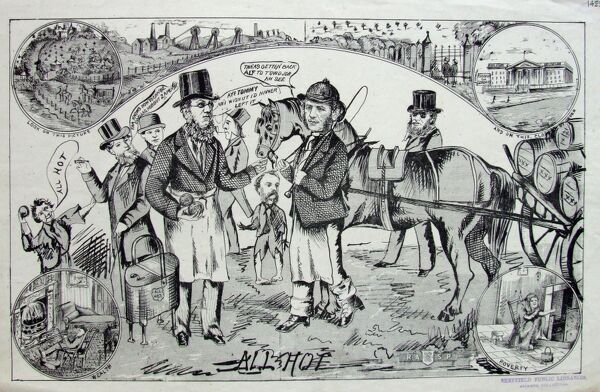 General Election, Sheffield poster, 1874