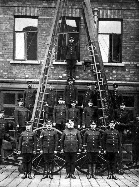 Rockingham Street Fire Station, Sheffield, Yorkshire, c. 1900