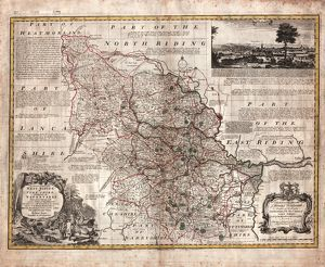 An Accurate Map of the West Riding of Yorkshire, divided into its Wapontakes, 1785
