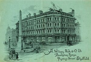 Advertisement for A. Wilson. Peck and Co. Ltd., Beethoven House, Pinstone Street