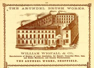 Advertisement for The Arundel Brushworks, William Wigfall and Co., Brush Manufacturers