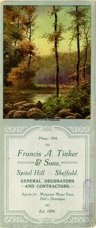 Advertisement (blotter) for Francis A. Tinker and Sons, General Decorators and Contractors