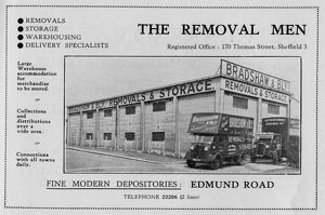 Advertisement for Bradshaw and Bly, The Removal Men, No. 170 Thomas Street, 1939