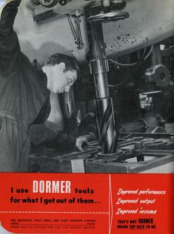 Advertisement for Dormer / The Sheffield Twist Drill and Steel Co. Ltd., Summerfield Street