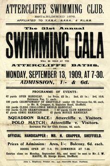 posters/ad poster attercliffe swimming club 31st annual