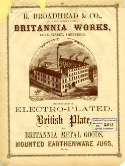 Advertisement for R Broadhead and Co., (late Broadhead and Atkin) Electroplaters