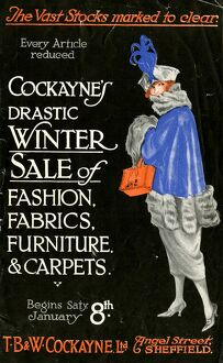 Advertisement for T. B. and W. Cockayne, Department Store, Angel Street winter sale