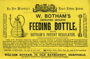 posters/ad w bothams improved infants feeding bottle