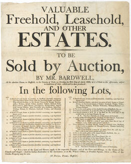 posters/announcing sale auction freehold leasehold property