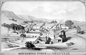 Artists Impression of M and H Armitage and Co., Mousehole Forge, River Rivelin