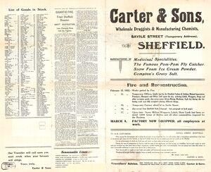 Carter and Sons, wholesale druggist and manufacturing chemists, Attercliffe Road