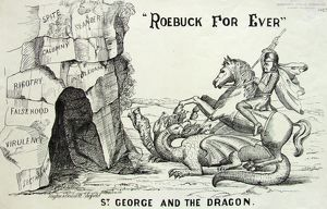 miscellaneous/cartoon roebuck ever st george dragon 1860s