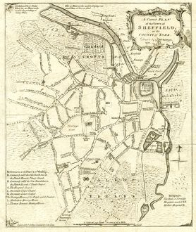 A complete plan of the Town of Sheffield by William Fairbank, 1771