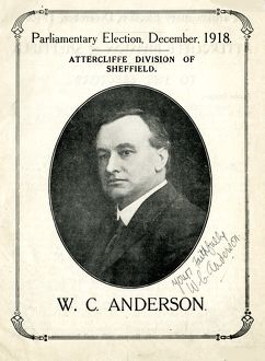 Cover of election communication of William Crawford Anderson (1877 - 1919); General
