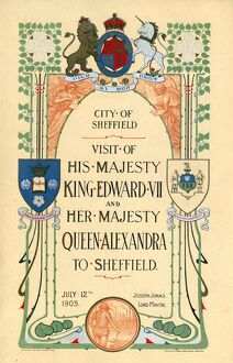 posters/cover programme visit hm king edward vii queen