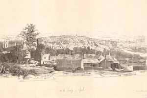 East view of the Town of Sheffield in the County of York, 1826