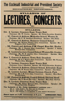 posters/ecclesall industrial provident society education