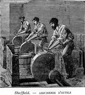 Edge Tool Manufacture, grinding hoes , , 1904