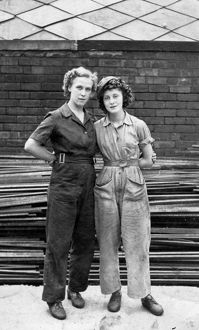 world war/female workers rip bits factory sheffield second
