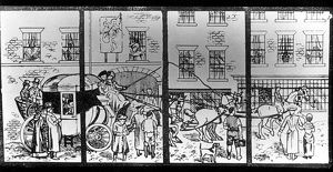 miscellaneous/drawing window angel hotel destroyed 1941 depicting
