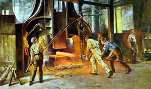 Forging Bloom for Axles, Cammell Laird and Co., Ltd. 1916