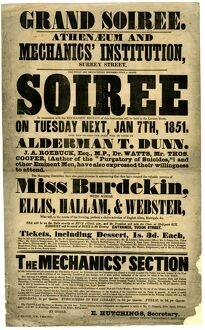 Grand Soiree, Athenaeum and Mechanics' Institution, Surrey Street