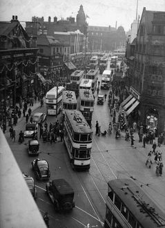 Elevated view of Haymarket looking towards Fitzalan Square and General Post Office