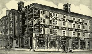 James Farrer and Sons Ltd., grinding and polishing equipment, Devonshire Works, 37-43