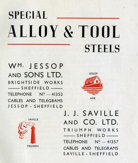 Jessop Saville Special Alloy and Tool Steels catalogue, 1960