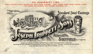 Bill head from Joseph Trippett and Sons, Steel Castings Manufacturers, Coleridge Road