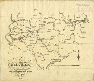 The Line of Railway from Sheffield to Manchester, as laid down in this map is the