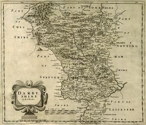 Map of Darbyshire [Derbyshire] by Rob Morden, 1695