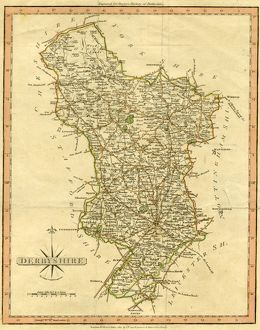 Map of Derbyshire by John Cary, 1811