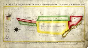 A map of an estate at Greenhill in the County of Derby, the property of Robert Newton