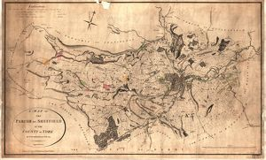 Map of the parish of Sheffield by W. Fairbank and Son (engraved by J. Cary), 1795