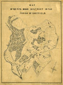 Map of the Pitsmoor district in the Parish of Sheffield, 1846