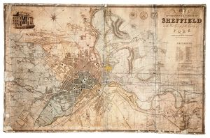 Map of the town and environs of Sheffield by J. Tayler, 1832