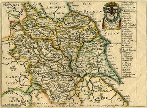 A Mapp (sic) of Yorkshire with its divisions and hundreds by Richard Blome, 1670