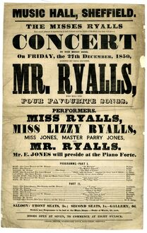Music Hall, Sheffield, The Misses Ryalls have much pleasure in announcing to their friends