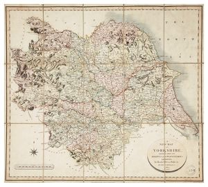 New map of Yorkshire divided into its Ridings, surveyed 1815-1817