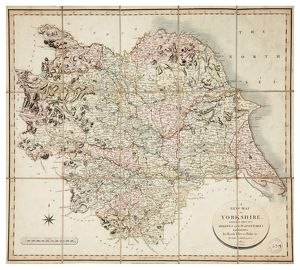 A new map of Yorkshire, divided into its ridings and wapentakes, exhibiting its roads