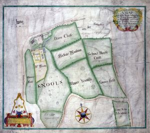 A map of all the lands belonging to Robert Newton esquire at Norton in the County of Derby