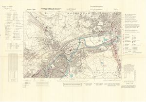 Ordnance Survey map of east end of Sheffield (and Rotherham) copied by the Germans