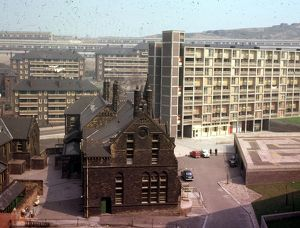Elevated View of Park Primary Schools and Park Hill Flats looking towards Duke Street Flats