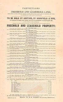 posters/particulars freehold leasehold land belonging