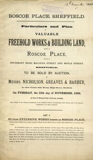 Particulars and plan of valuable freehold works known as Roscoe Place situate in Infirmary Road