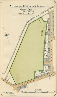 Plan of Attercliffe Recreation Ground (Worthing Road / Ripon Street / Woodbourn_Road)