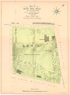 Plan of Broombank House and other freehold property situate in Clarkehouse Lane belonging