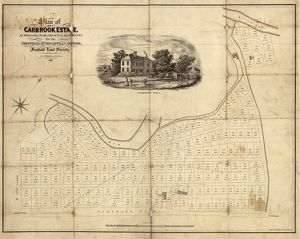 Plan of the Carbrook Estate as proposed to be laid out in allotments, for the Sheffield