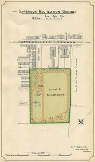 Plan of Carbrook Recreation Ground, 1897